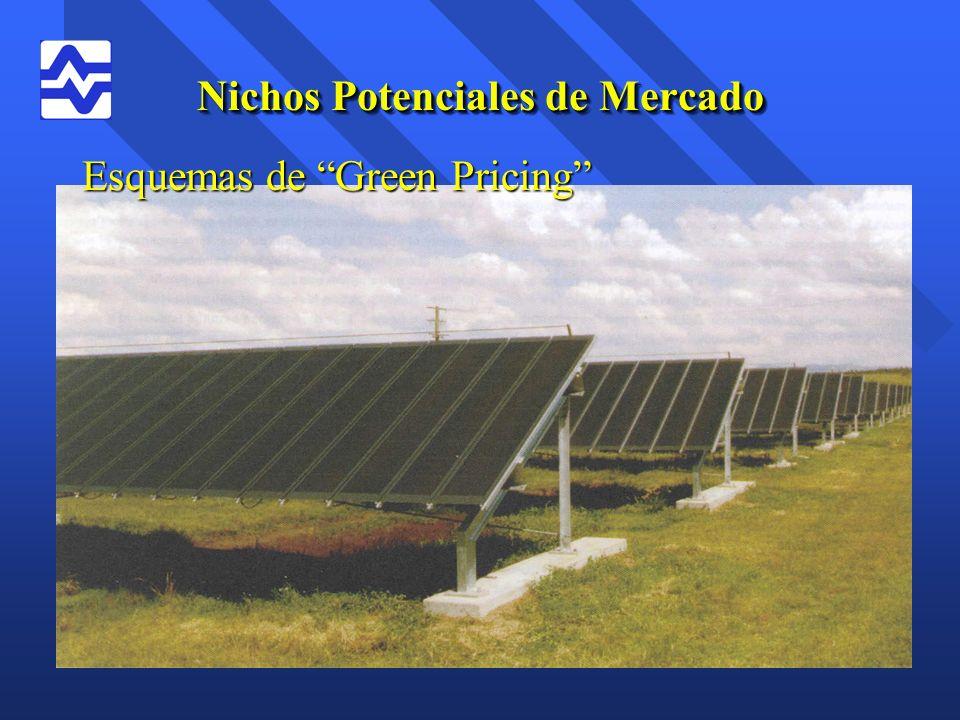Nichos Potenciales de Mercado Esquemas de Green Pricing