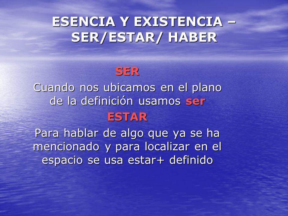 el ser y la esencia: