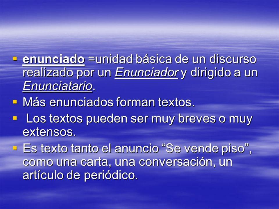 Todo texto es un Hecho, un Evento comunicativo, que necesita de la palabra para realizarse.