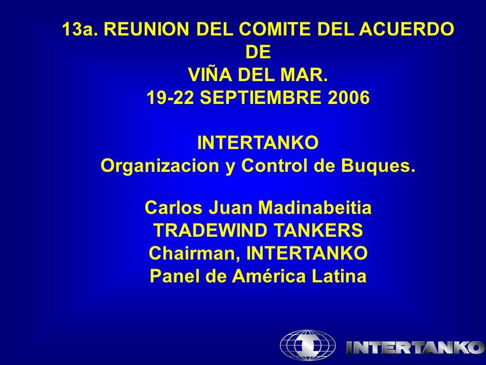 13a. REUNION DEL COMITE DEL ACUERDO DE VIÑA DEL MAR.
