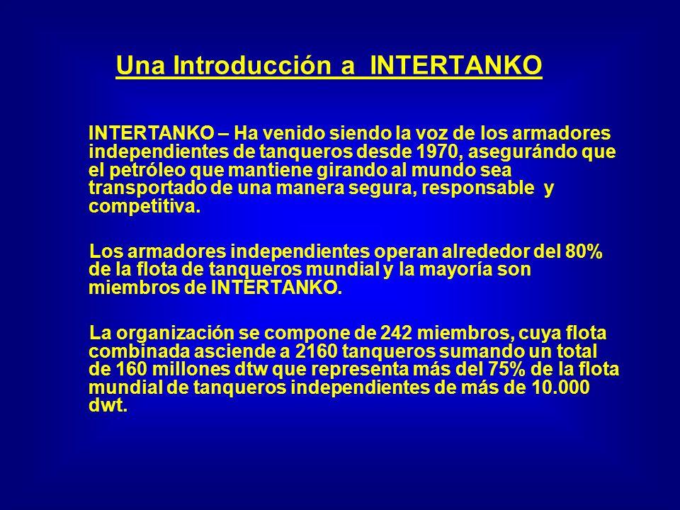 Una Introducción a INTERTANKO INTERTANKO – Ha venido siendo la voz de los armadores independientes de tanqueros desde 1970, asegurándo que el petróleo que mantiene girando al mundo sea transportado de una manera segura, responsable y competitiva.