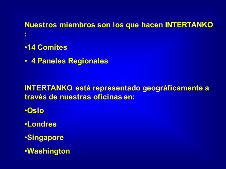 Gracias www.intertanko.com