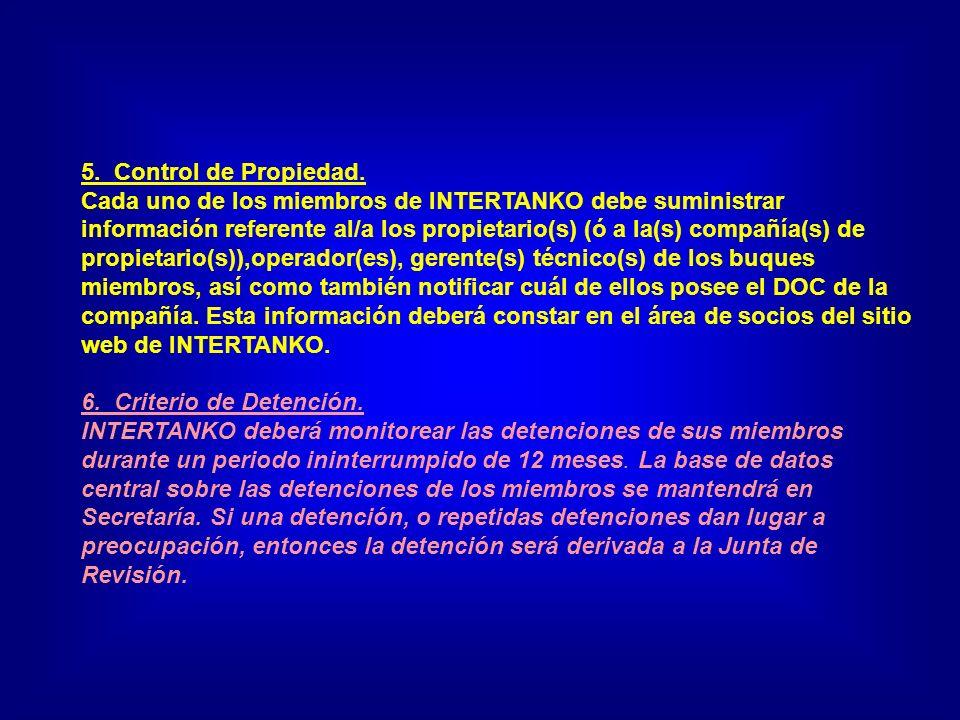 5. Control de Propiedad.