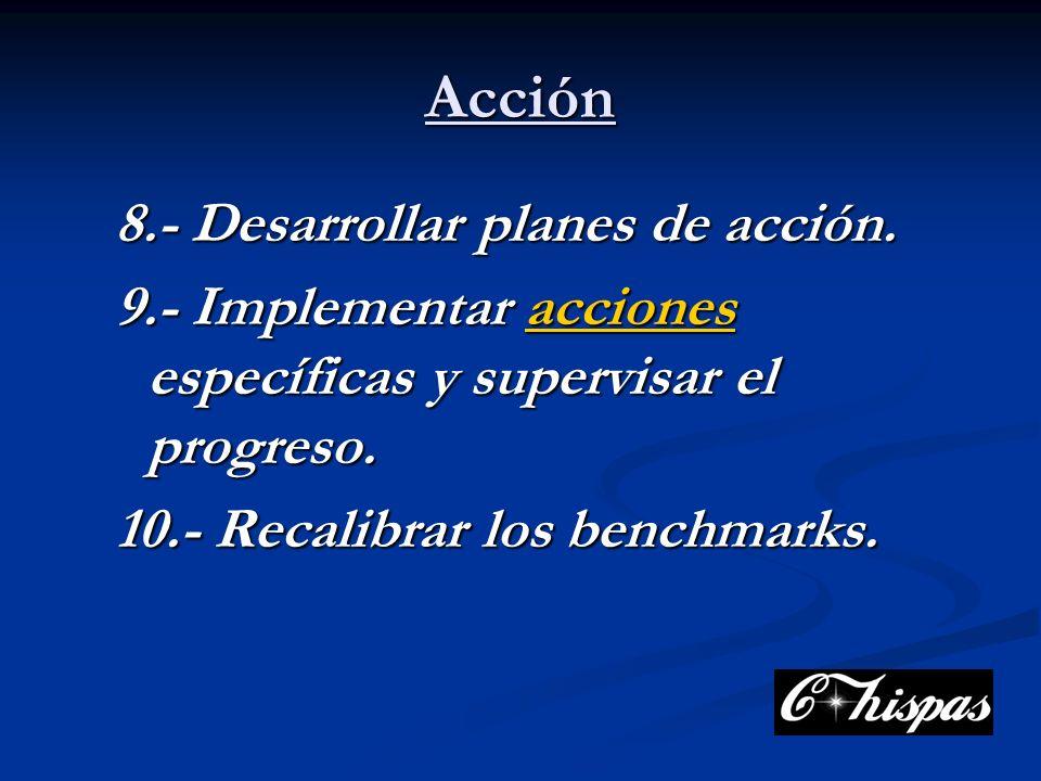 Acción 8.- Desarrollar planes de acción.