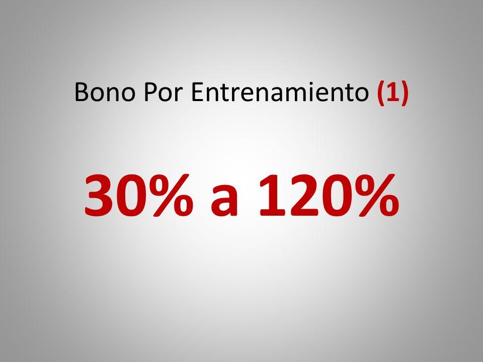 Bono Por Entrenamiento (1) 30% a 120%