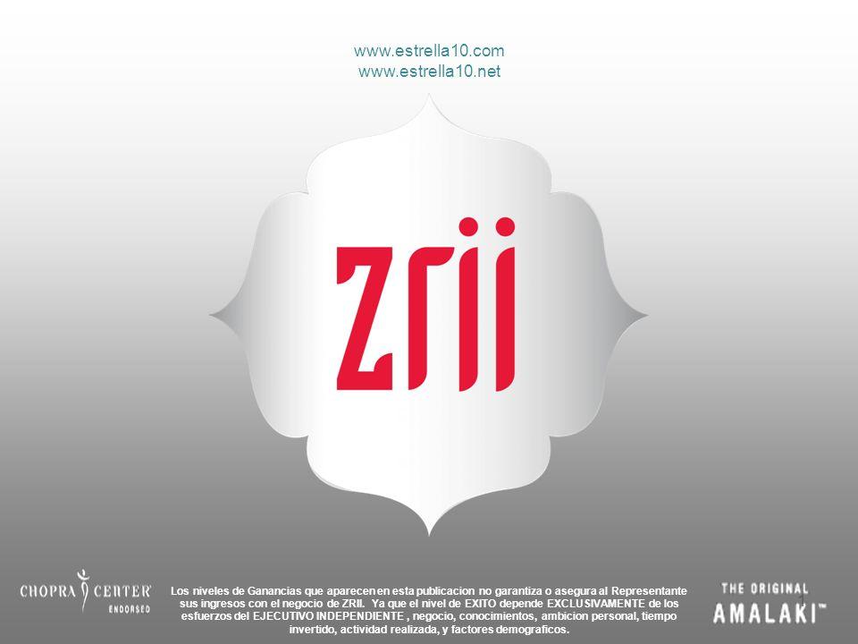 Los niveles de Ganancias que aparecen en esta publicacion no garantiza o asegura al Representante sus ingresos con el negocio de ZRII. Ya que el nivel