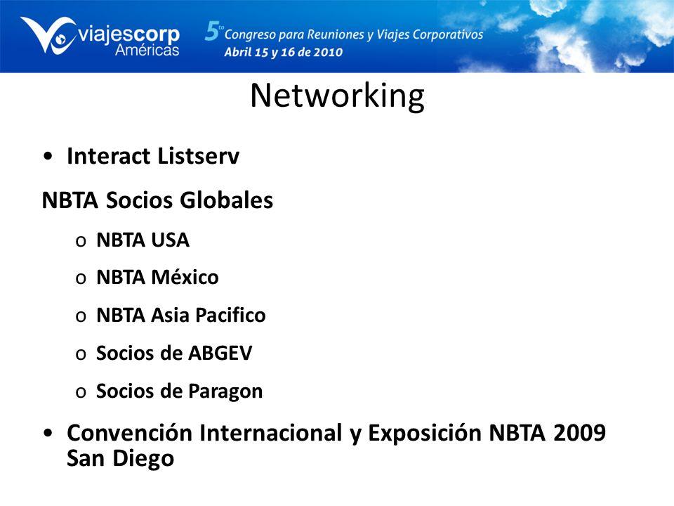 Networking Interact Listserv NBTA Socios Globales oNBTA USA oNBTA México oNBTA Asia Pacifico oSocios de ABGEV oSocios de Paragon Convención Internacio