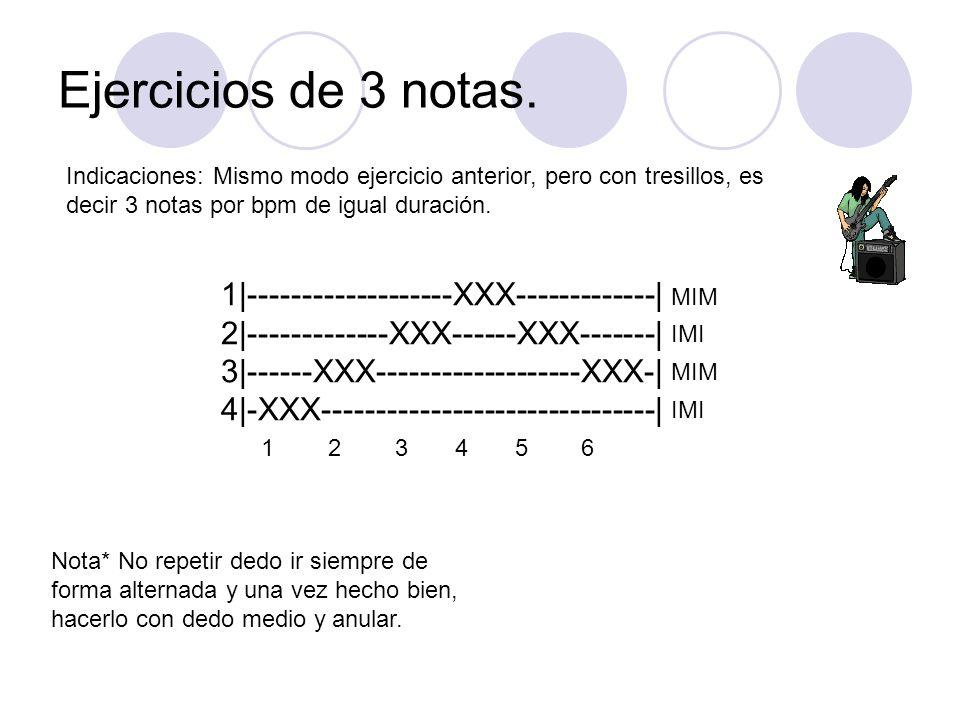 Ejercicios de 3 notas.