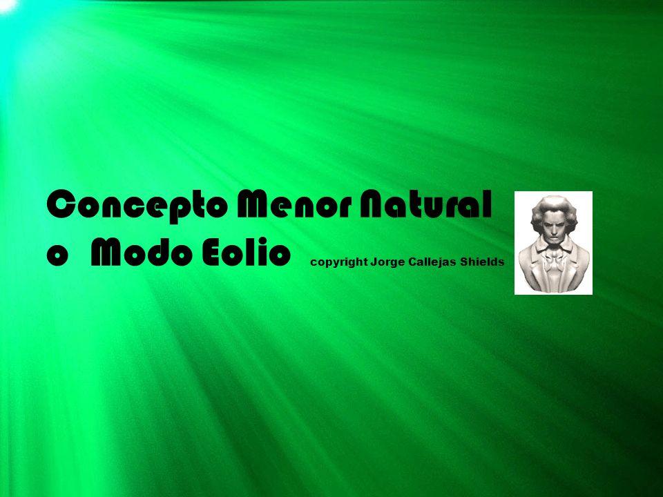 Concepto Menor Natural o Modo Eolio copyright Jorge Callejas Shields