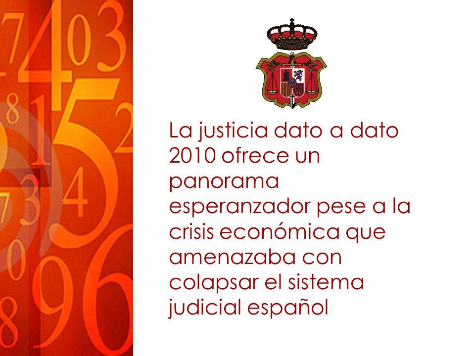 La justicia dato a dato 2010 ofrece un panorama esperanzador pese a la crisis económica que amenazaba con colapsar el sistema judicial español