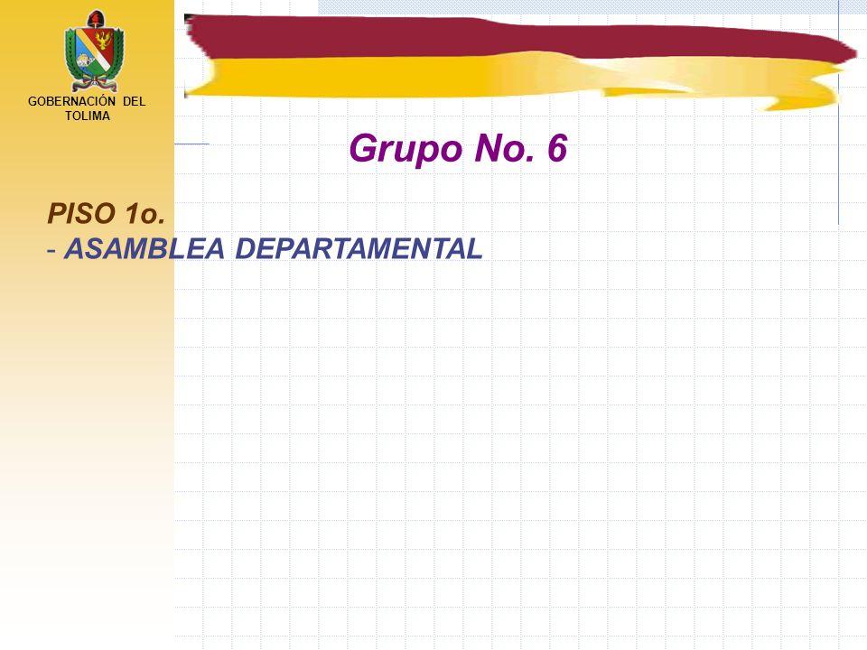 GOBERNACIÓN DEL TOLIMA PISO 1o. - ASAMBLEA DEPARTAMENTAL Grupo No. 6