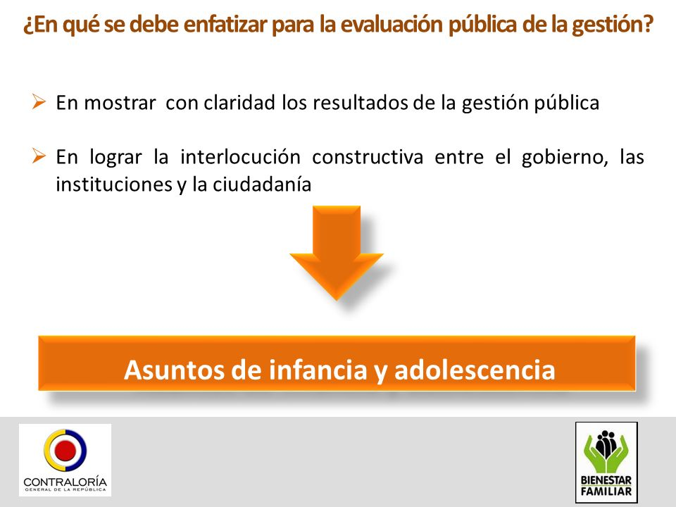 ¿Cuáles son los objetivos de la evaluación pública de la gestión.