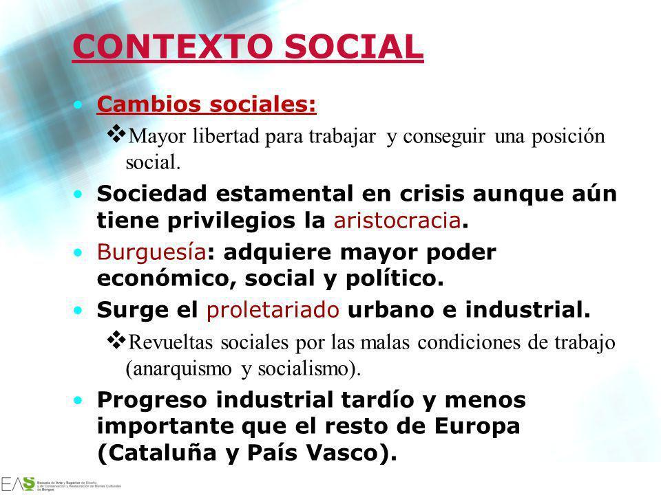 Jesús Ávila Sangrador CONTEXTO SOCIAL Cambios sociales: Mayor libertad para trabajar y conseguir una posición social. Sociedad estamental en crisis au
