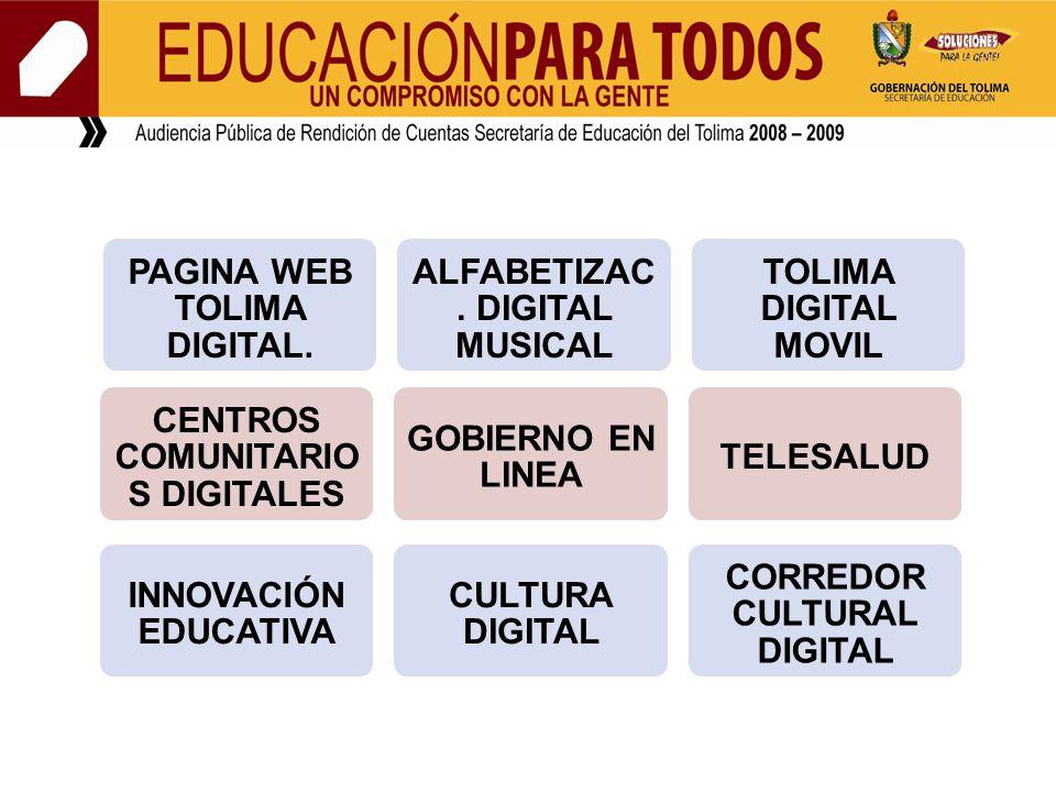 PAGINA WEB TOLIMA DIGITAL. ALFABETIZAC.