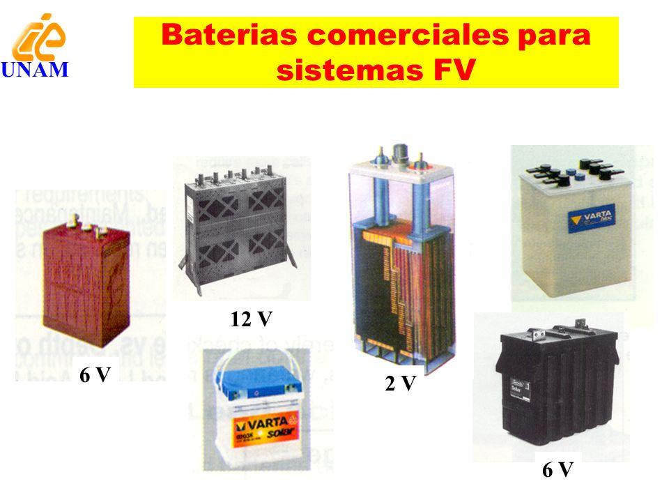Baterias comerciales para sistemas FV 6 V 12 V 2 V 6 V