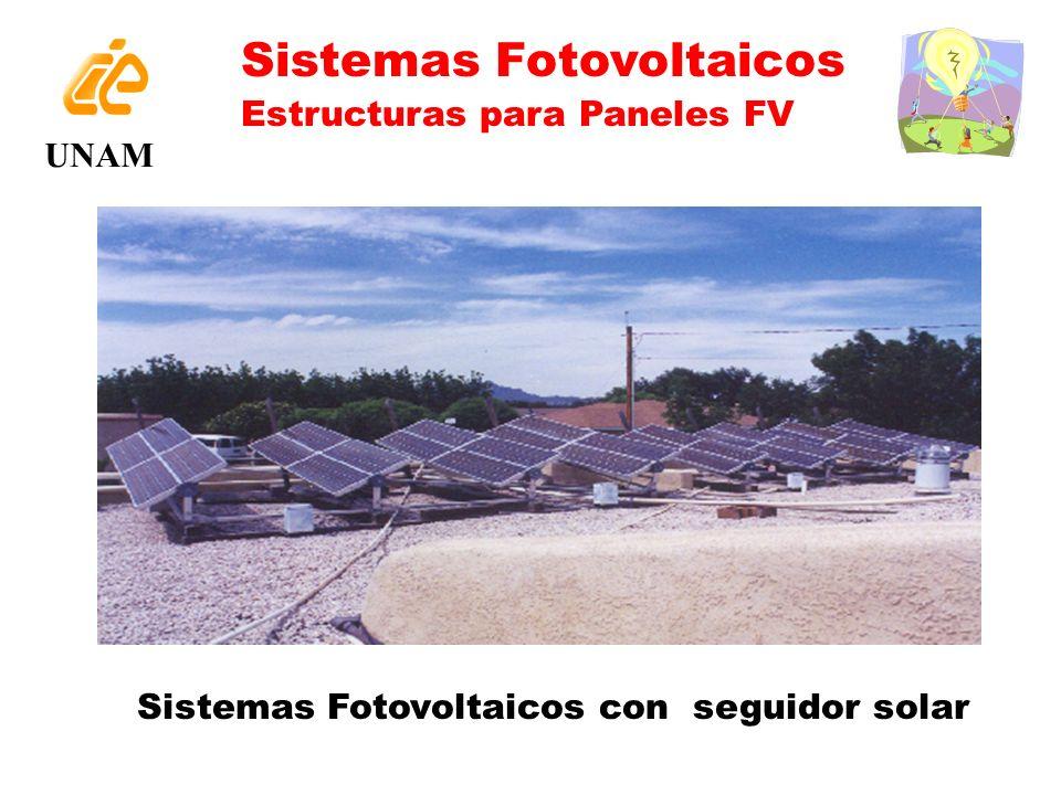 Sistemas Fotovoltaicos con seguidor solar UNAM Sistemas Fotovoltaicos Estructuras para Paneles FV