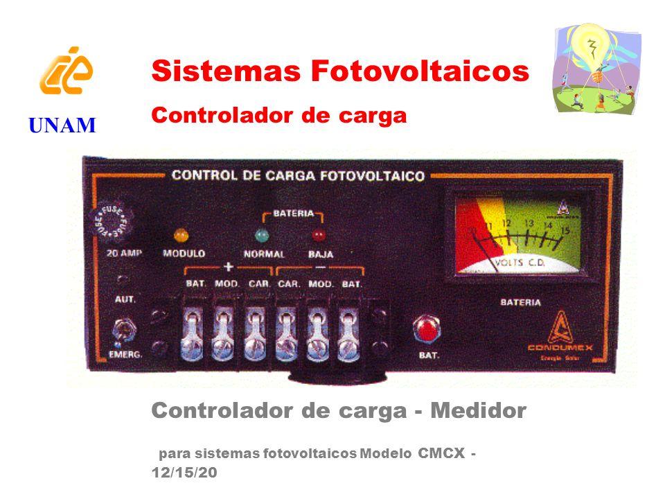 Sistemas Fotovoltaicos Controlador de carga Controlador de carga - Medidor para sistemas fotovoltaicos Modelo CMCX - 12/15/20