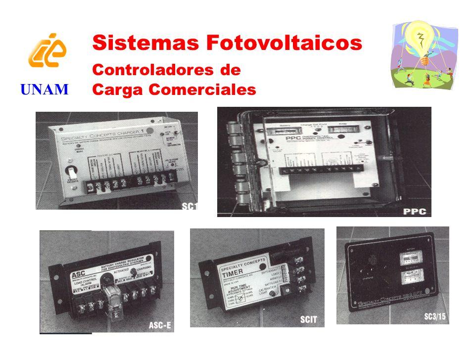 UNAM Sistemas Fotovoltaicos Controladores de Carga Comerciales