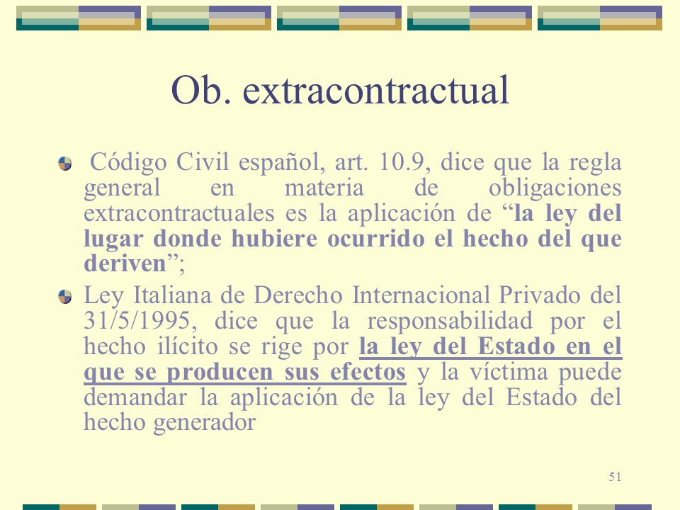 51 Ob.extracontractual Código Civil español, art.