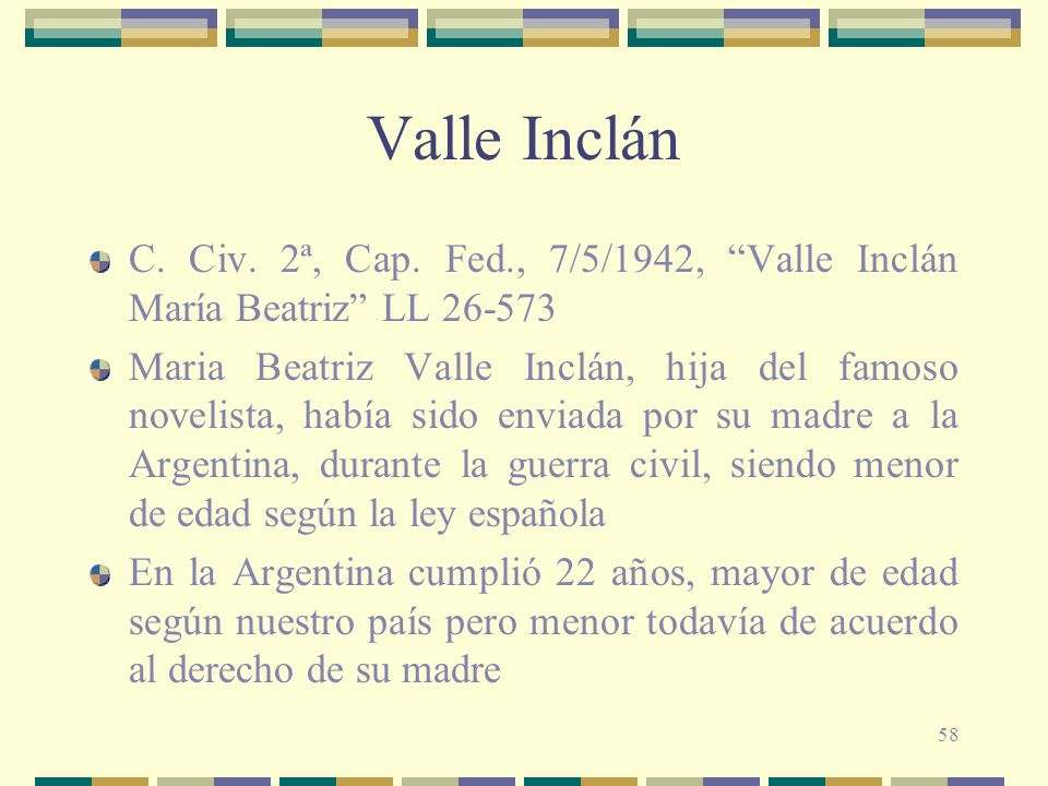 58 Valle Inclán C.Civ. 2ª, Cap.