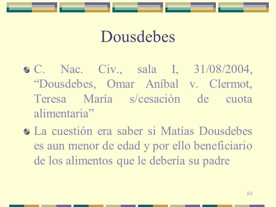 60 Dousdebes C.Nac. Civ., sala I, 31/08/2004, Dousdebes, Omar Aníbal v.