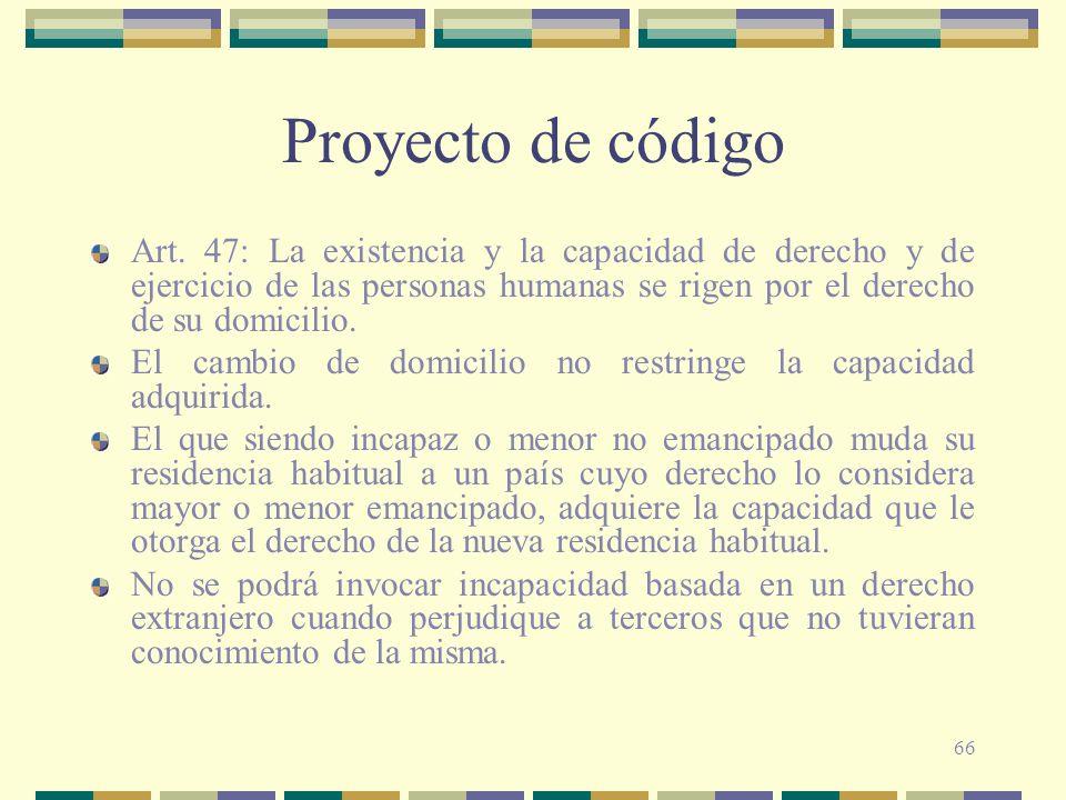 66 Proyecto de código Art.