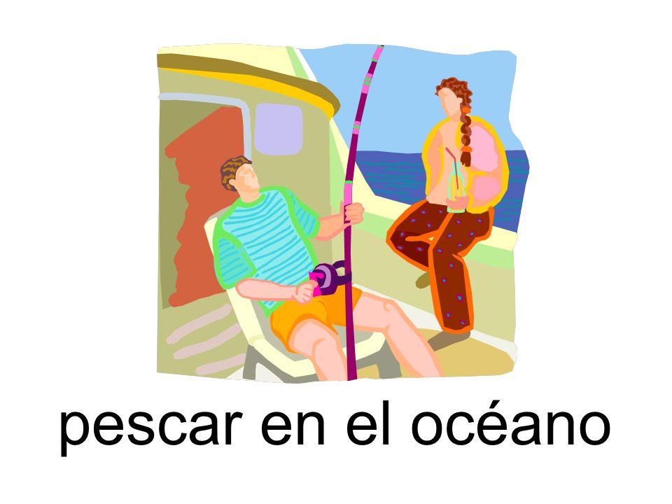 pescar en el océano