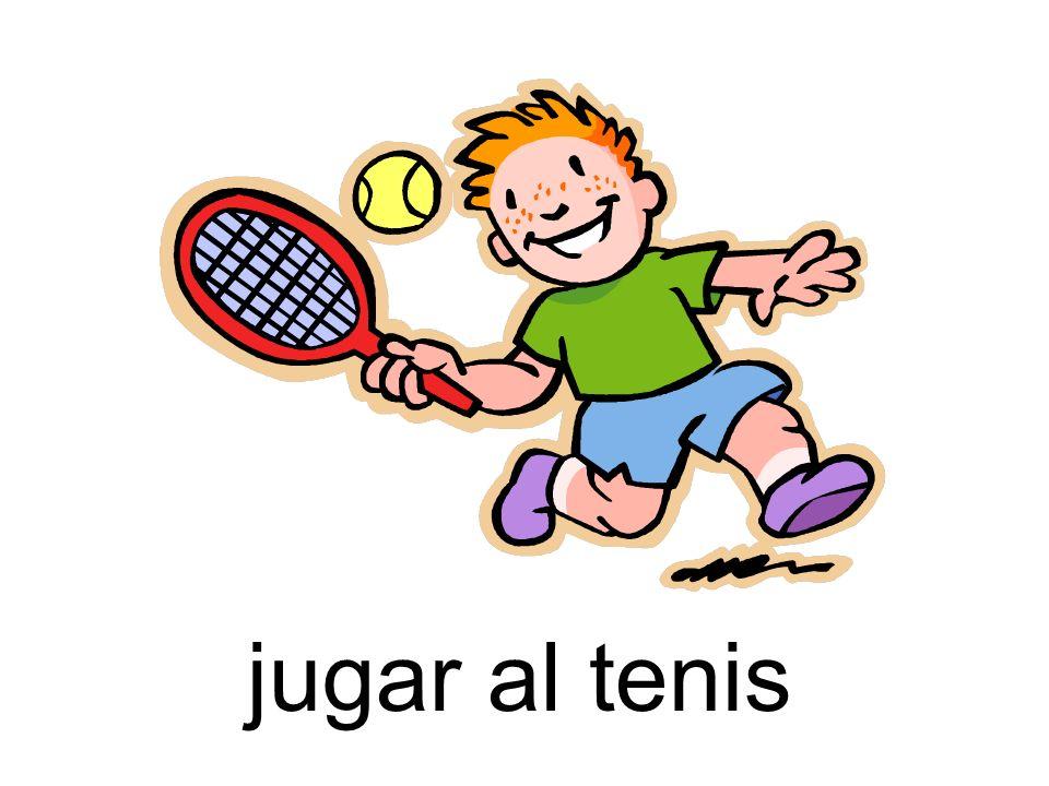 jugar al tenis