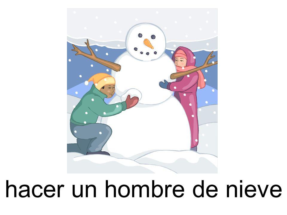 hacer un hombre de nieve
