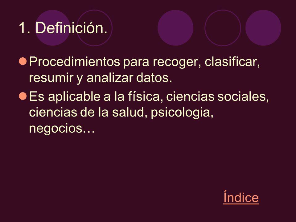 2.Estadística descriptiva.Describe y analiza algunos caracteres de la población.