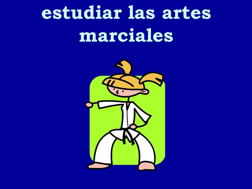 estudiar las artes marciales