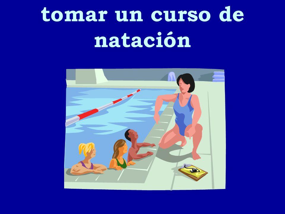 tomar un curso de natación
