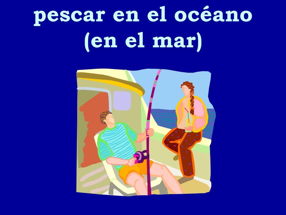 pescar en el océano (en el mar)