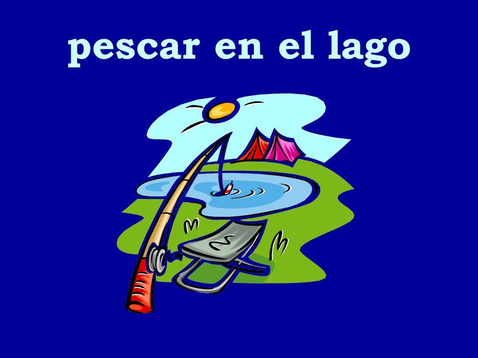 pescar en el lago