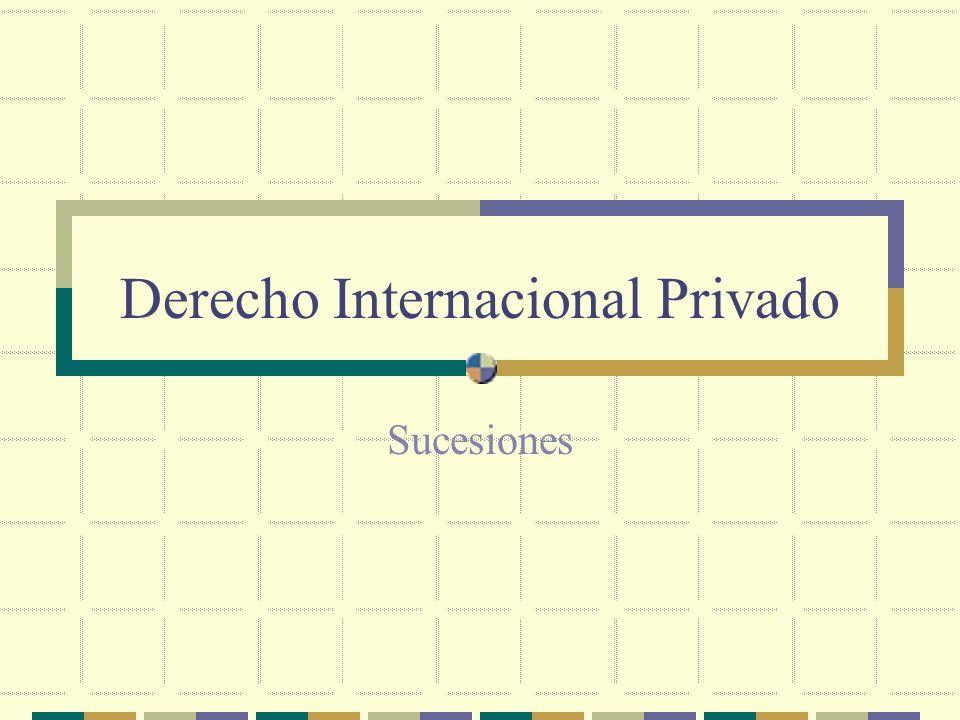 Derecho Internacional Privado Sucesiones