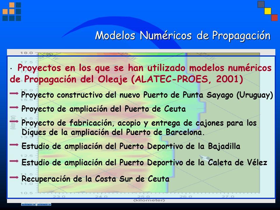 Modelos Numéricos de Propagación Modelos Numéricos de Propagación Proyecto constructivo del nuevo Puerto de Punta Sayago (Uruguay) Proyectos en los qu