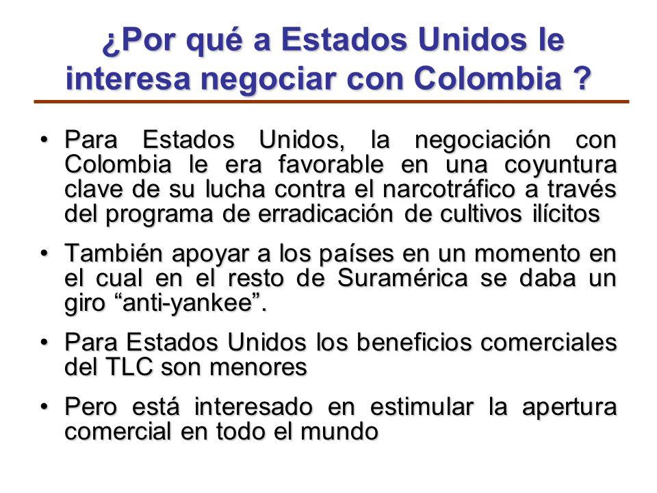 ¿Por qué a Estados Unidos le interesa negociar con Colombia ? ¿Por qué a Estados Unidos le interesa negociar con Colombia ? Para Estados Unidos, la ne