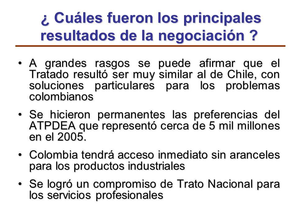¿ Cuáles fueron los principales resultados de la negociación ? ¿ Cuáles fueron los principales resultados de la negociación ? A grandes rasgos se pued