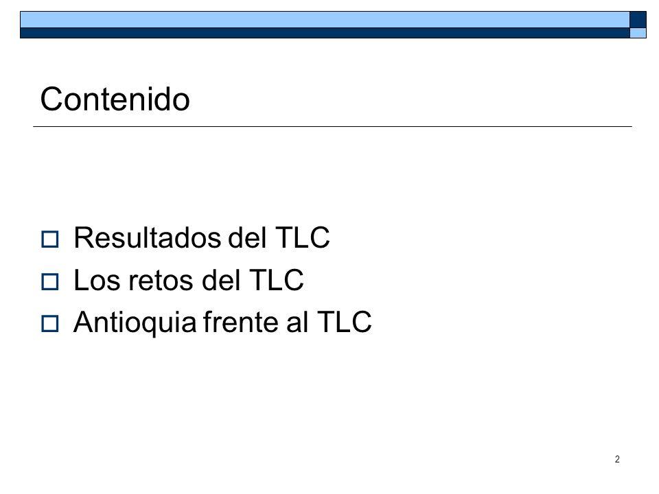2 Contenido Resultados del TLC Los retos del TLC Antioquia frente al TLC