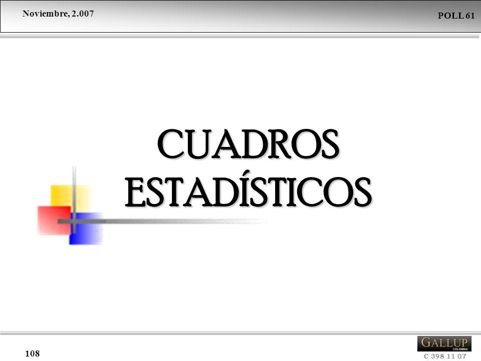 Noviembre, 2.007 C 398 11 07 POLL 61 108 CUADROS ESTADÍSTICOS