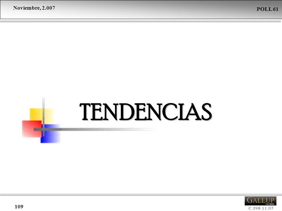 Noviembre, 2.007 C 398 11 07 POLL 61 109 TENDENCIAS