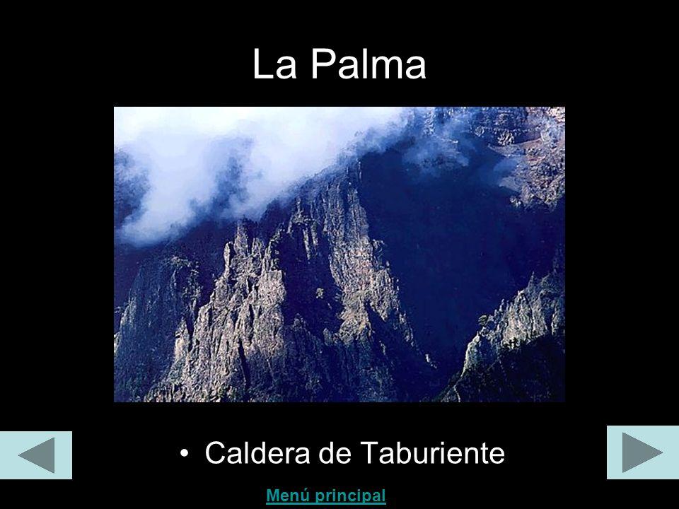 La Palma Caldera de Taburiente Menú principal