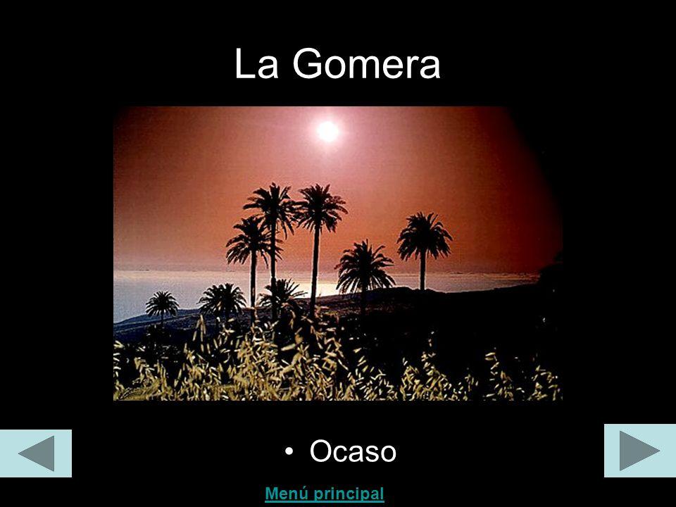 La Gomera Ocaso Menú principal