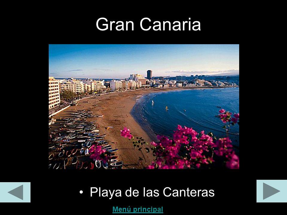 Gran Canaria Playa de las Canteras Menú principal