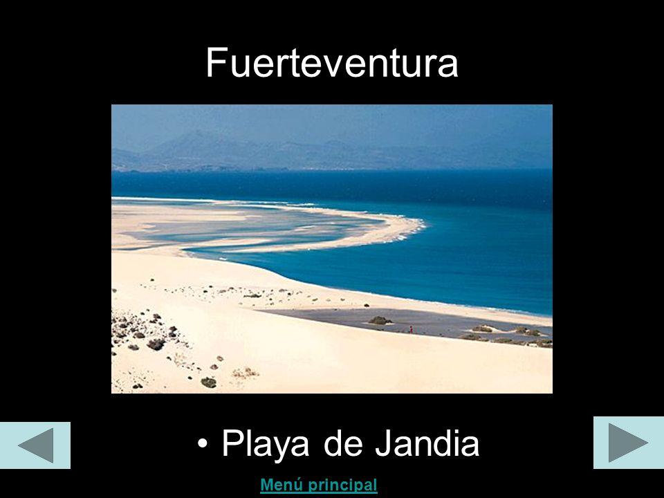 Fuerteventura Playa de Jandia Menú principal