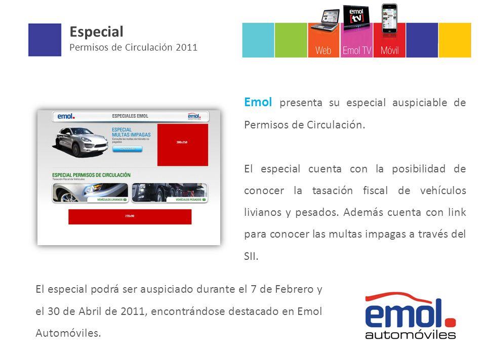 Especial Permisos de Circulación 2011 Emol presenta su especial auspiciable de Permisos de Circulación. El especial cuenta con la posibilidad de conoc