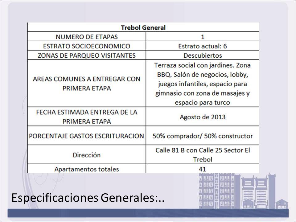 Especificaciones Generales:..