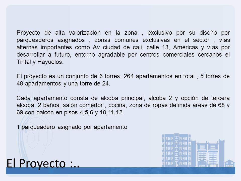 Apartamentos :.. Área construida: 51.60 m² Área privada: 45.67 m² Área común Excl (patio): 4.21 m²