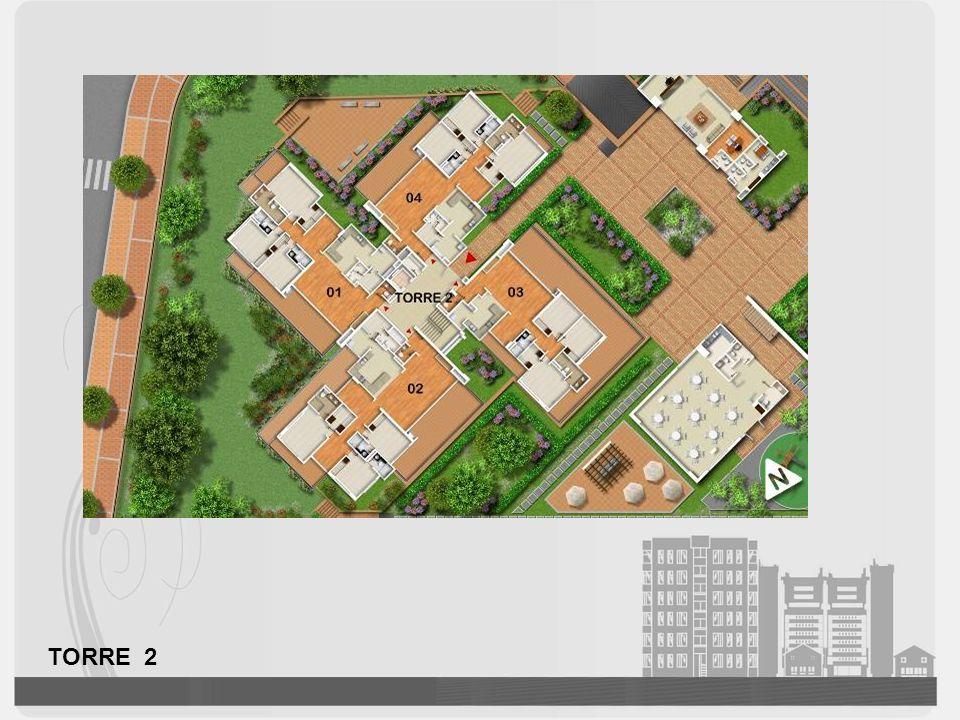 APARTAMENTO TIPO A Distribución: Sala comedor Cocina abierta Estudio Balcón Terraza Sala de Estar 2 alcobas auxiliares con baño Alcoba principal con vestier y baño.