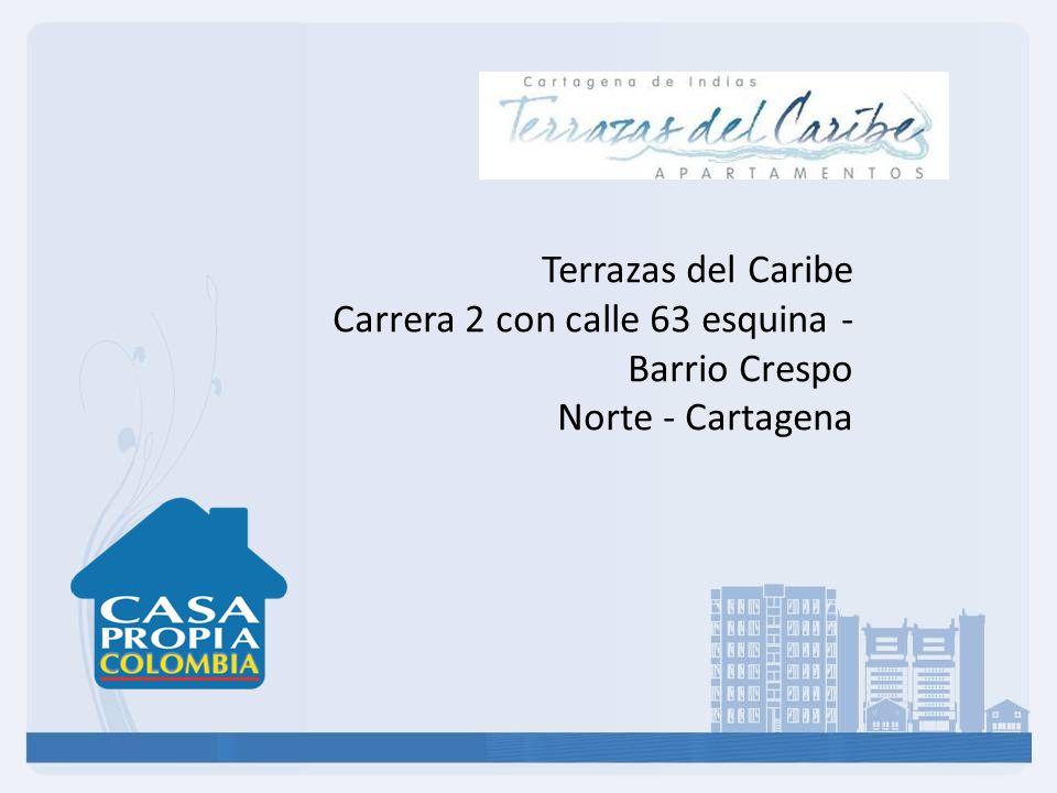 El proyecto Terrazas del Caribe, se encuentra ubicado en el norte de Cartagena, en el barrio Crespo, en una zona de alto desarrollo urbanístico y una excelente valorización, estrato 5.
